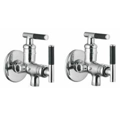 Apree Art Silver Brass 2 in 1 Angle Faucet (Pack of 2)
