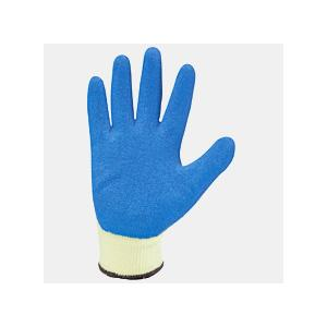 Mallcom 10 Inch Blue Latex Safety Gloves, L210B (Pack of 12)