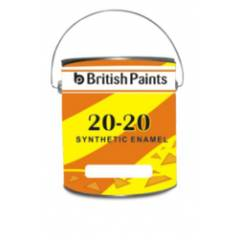 British Paints 4 Litre Golden Yellow 20-20 Synthetic Enamel, GR-IV