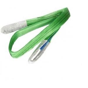 Cranlik Double Ply Polyster 2 Ton Green Webbing Slings, Length: 8 m