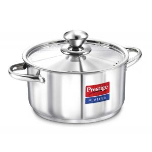 Prestige Platina 2 Litre Stainless Steel Silver Casserole, 36505