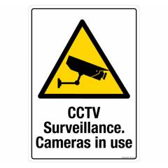 Safety Sign Store CCTV Surveillance Cameras In Use Sign Board, PS614-A3V-01