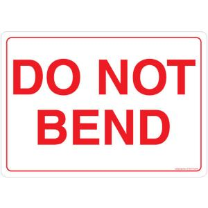 Safety Sign Store Do Not bend Sign Board, CW907-A5V-01, (Pack of 10)