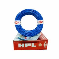 HPL 1 Sq mm Blue Single Core Unsheathed Household Wire, Length: 90 m