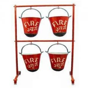 OEM Fire Bucket Stand For Four Buckets