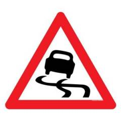 Asian Loto 3 mm Slippery Road Sign Board for Safety, ALC-SGN-4-900