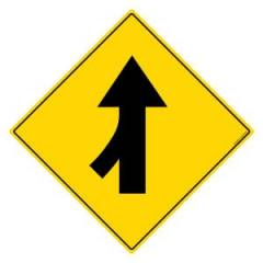 Asian Loto 3 m Traffic Sign Road Merge-Left Sign Board, ALC-SGN-14-900