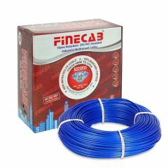 Finecab 1.5 Sq mm Blue PVC Insulated Single Core FR Wire, Length: 90 m