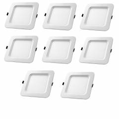 Aaditya ADIPSQR12-8 12W Square LED Panel Light (Pack of 8)