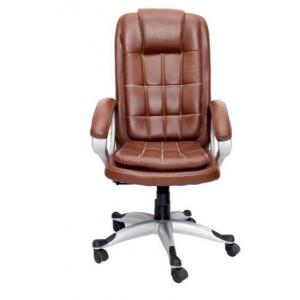 VJ Saecula Executive High Back Chair, Colour: Brown