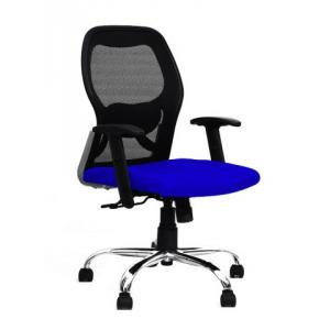 R P Enterprises Apollo Medium Back Blue Office Chair, Dimensions: 45x48x60 cm