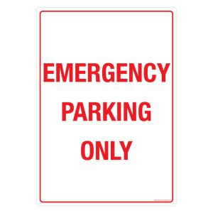 Safety Sign Store Emergency Parking only Sign Board, GS305-A3PC-01