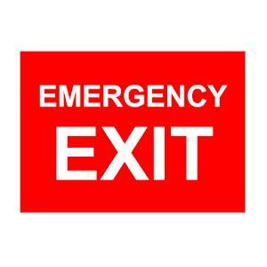 Mediateckboards EE-045 Emergency Exit, Size: 4x12 in