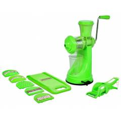 SM Elegant Combo of Green Manual Hand Juicer & Vegetable Cutter