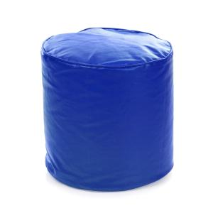Style Homez Royal Blue Ottoman Stool Round Bean Bag Cover, Size: L