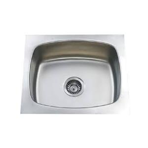 Jayna Crown CSB 03 Glossy Single Bowl Sink in 1.5 mm Thickness, Size: 20 x 18 in