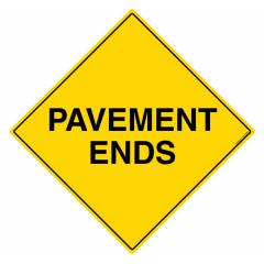 Safety Sign Store Caution: Pavement Ends Sign Board, TR253-600REF-01