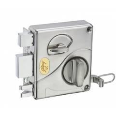 Godrej Ultra Tribolt 1CK I/O Brushed Steel Rim Lock, 8116