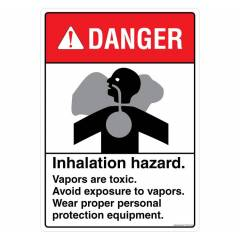 Safety Sign Store Danger: Inhalation Hazard Sign Board, FE108-A3PC-01