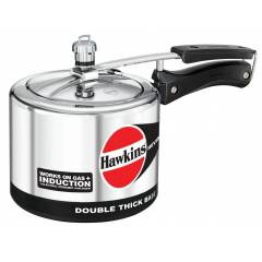 Hawkins IH30 Silver 3 Litre Hevibase Aluminium Induction Model Pressure Cooker