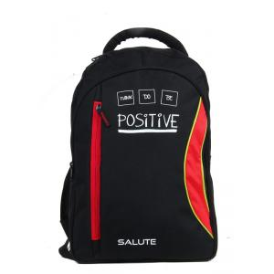 Salute 34 Litre Black & Red Polyester Laptop Backpack