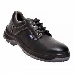 Allen Cooper AC-1284 Antistatic Steel Toe Black Safety Shoes, Size: 6