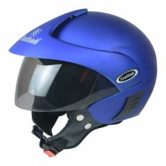 Stallion BLK Triomax Open Face Royal Blue Motorbike Helmet, Size: M