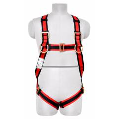 Karam E-CON Full Body Harness with Restraint Twisted Rope Double Lanyard, PN18(PN206D)