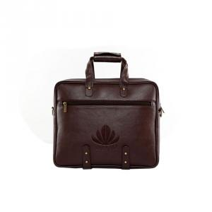 Abloom 1502 Dark Brown Synthetic Leather Laptop Bag