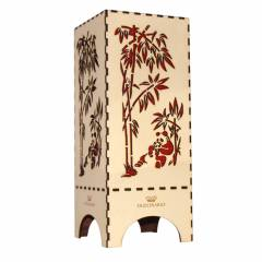 Dizionzrio DTBLPCR Red Handicrafts Wooden Look Hand Made Night Table Lamp
