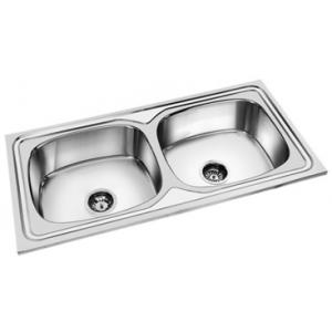 Deepali Double Bowl Kitchen Sink, DP 303, Overall Size: 37x18 Inch