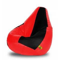 Dolphin DOLBXL-01 Black & Red Bean Bag Cover without Beans, Size: XL