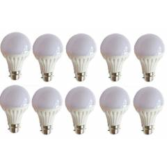 EGK 7W B-22 White LED Bulbs (Pack of 10)