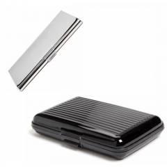 Stealodeal Black & Silver Security Credit/Debit Card Holder Set