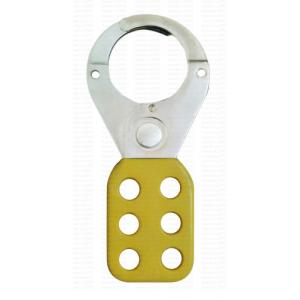 Asian Loto ALC-CHPV-Y Small Yellow Vinyl Coated Safety Lockout Hasp, Size: 38 mm (Pack of 5)
