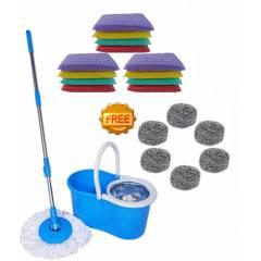 Taptree Assorted Steel Mop with Free Foam Scrub Pad & Steel Juna, MOP0584