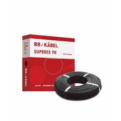 RR Kabel Superex-FR 4 Sq mm Black PVC Insulated Cable, Length: 90 m