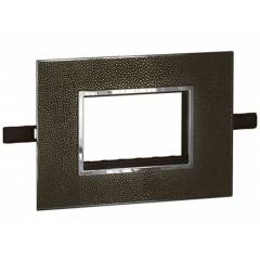 Legrand Arteor 6 Module Leather Club Square Cover Plate With Frame, 5763 83