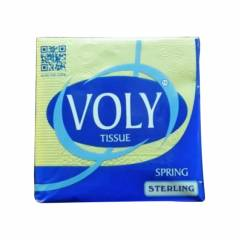 Voly 24cm Spring 10 Yellow Tissue Napkins, VS10Y (Pack of 100)