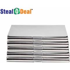 Stealodeal Stainless Steel Card Holder (Pack of 5)