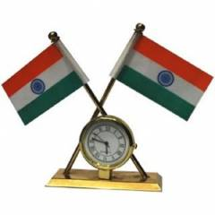 Evergreen Double Sided India Flag For Universal Car Dashboard