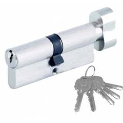 Zaha 80mm Pin Cylinder with 5 Regular Keys, ZHPCR-001-60, Finish: BSN