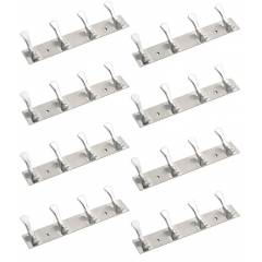 Doyours 8 Pieces Two Tone 4 Pin Hook Rail Set, DY-1314