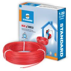 Standard 4 Sq mm 90m Red PVC FR Industrial Cables, WSFFDNRA14X0