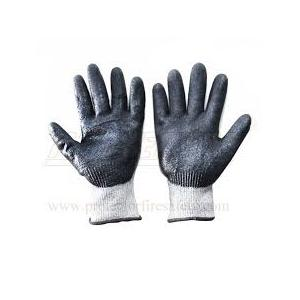 Mallcom 9 Inch NBR Coated Cut Level 5 Safety Gloves with Sandy Finish, H33NBG (Pack of 12)