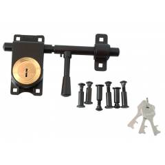 Link 270mm 6 Bolt Brown Aldrop Rod Lock With 3 keys, L08-LRLS-11