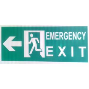ITE 1x1 ft Reflective Emergency Exit Sign Board