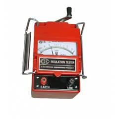CIE 444 Hand Driven Generator Type Insulation Tester, 500 V, 0-500 Ohm