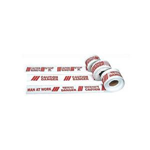 Vision Caution Red & White 100 m Barricade Tape