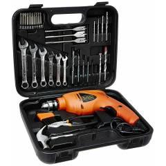 Black+Decker 41 Pieces 20mm 550W Orange Impact Drill Kit, HD455KA